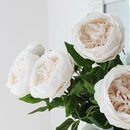 Real Touch Large White Rose Stem