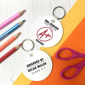 Personalised 'A+ Teacher' Keyring