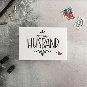 To My Husband Letterpress Card