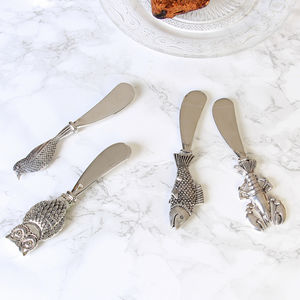 Novelty Set Of Two Animal Butter Knife Collection