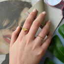 18k Gold Vermeil Or Sterling Silver Heart Signet Ring