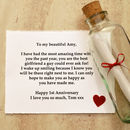Personalise the message for your husband, wife, boyfriend or girlfriend
