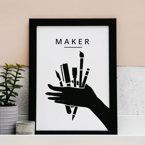 'Maker' Print - summer sale