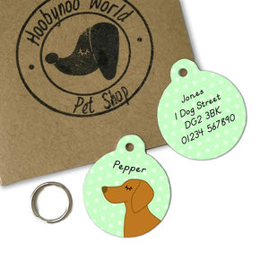 Vizsla Personalised Dog ID Name Tag - pet tags & charms