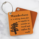 Wanderlust Leather Luggage Tag