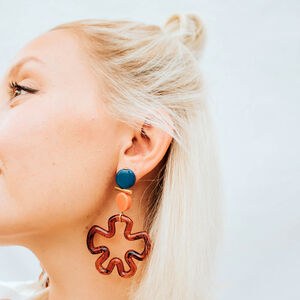 Statement Tortoiseshell Flower Earrings