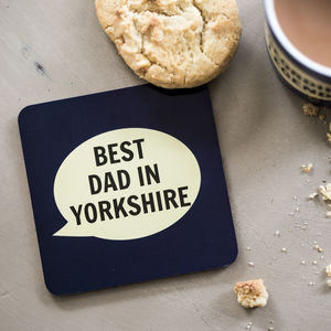 'Best Dad In Yorkshire' Coaster - placemats & coasters