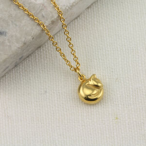 9ct Gold Tiny Cat Necklace