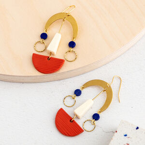 Alma Abstract Face Earrings