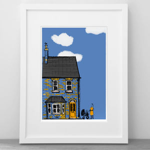 Personalised House Illustration - posters & prints