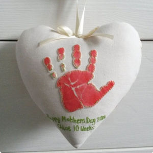 Personalised Fabric Heart Artwork