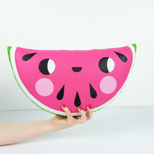Happy Watermelon Shaped Decorative Cushion - gifts for children