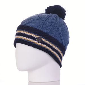 Morgan Cables Merino Wool Beanie Hat