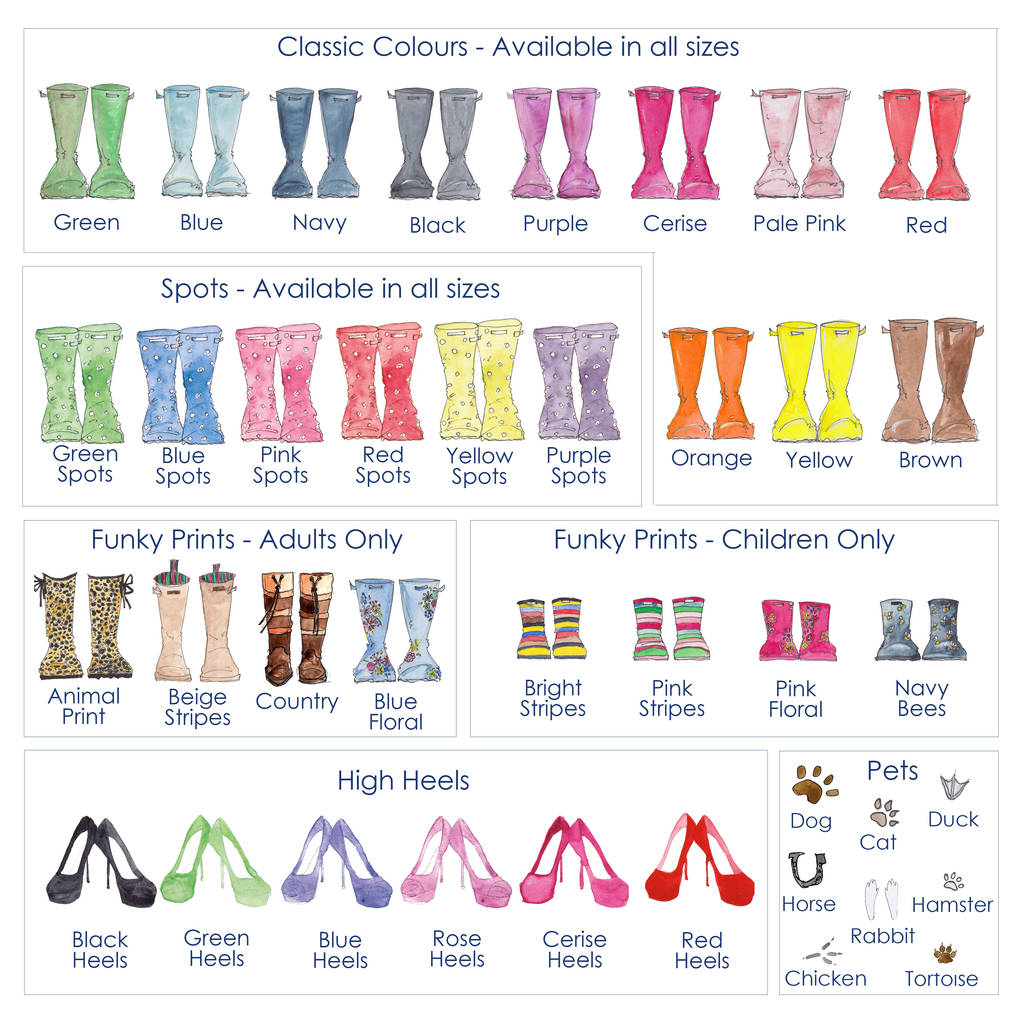 3f30d0c8024 personalised  mud and glamour  welly boot family print by this is ...
