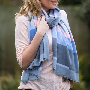 Personalised Geometric Cashmere And Modal Scarf - gifts for her
