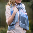 Personalised Geometric Cashmere And Modal Scarf