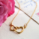 Lily Charmed Gold Linked Hearts Necklace
