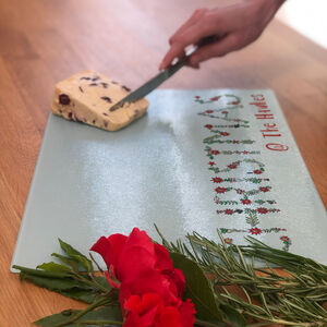 Personalised Holly Berry Chopping Board
