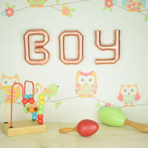 'Boy' Copper Letters - home accessories