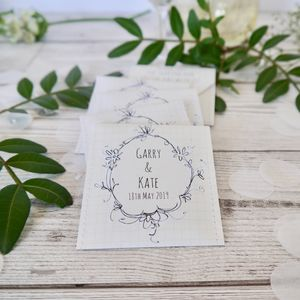 Wedding Wreath Tea Favour Pack Of 10