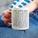 'Cricket Is Quite Simple' Funny Cricket Quote Mug