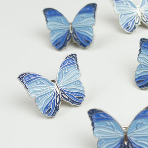 Butterfly Pin. Choice Of Five Colours - pins & brooches