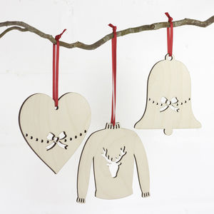 Wooden Christmas Decorations - tree decorations