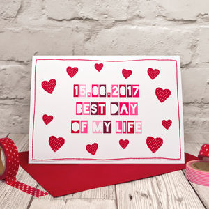 'Best Day Of My Life' Personalised Anniversary Card