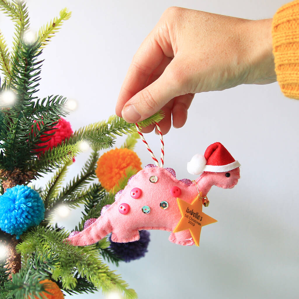 Personalised Dinosaur Tree Decoration By Miss Shelly Designs Notonthehighstreet Com