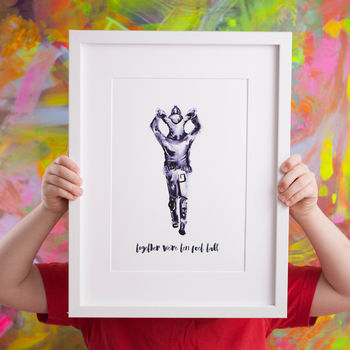 Daddy And Me Shoulder Ride Art Print