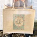 Apple Tree Personalised Jute Bag