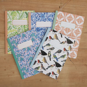 Set Of Three A5 Notebooks