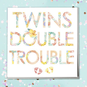 New Twins Baby Card