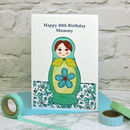 'Russian Doll' Personalised Birthday Card