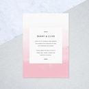 Pink Ombre Wedding Invites