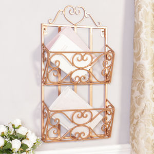 Wall Mounted Rose Copper Iron Home Office Store - office & study