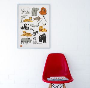 Animals Charity Screen Print - posters & prints