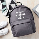 Personalised Favourite Things Backpack