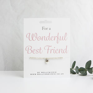 A Handmade Beaded Charm Bracelet Gift For Best Friend