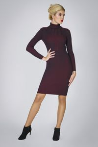 Cleo Black Two Tone Ribbed Knit Dress - dresses