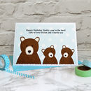 'Daddy Bear' Personalised Birthday Card From Children