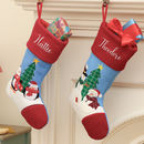 Festive Friends Personalised Christmas Stockings