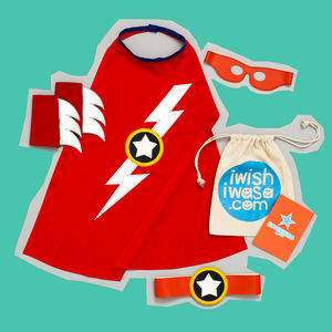 Superhero Lightening Flash Costume Set Luxe