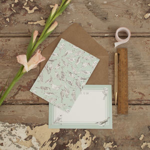 Bird Pattern Notelet Set