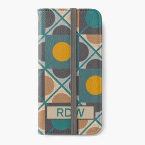 Personalised Retro iPhone Case In Green And Yellow