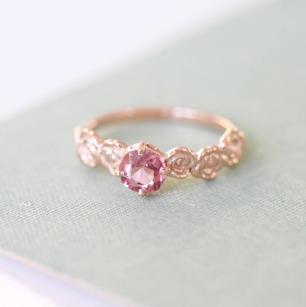 wedding with petite delicate ring rose glitter white sapphire gold heart stone in engagement jewelry sleek rg pink rings prong channel dark set nl shaped diamond
