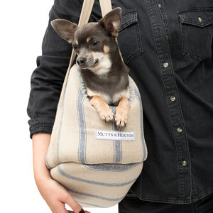 Nordic Stripe Dog Carrier - pet travel accessories