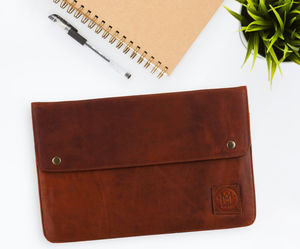 Personalised Leather Oslo Macbook Sleeve/Case - new season accessories