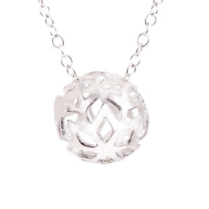 Silver Snowball Pendant - necklaces & pendants
