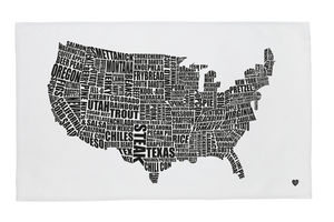 American Gastronomy Map Tea Towel